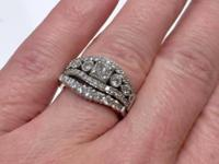 Beautiful Diamond Engagement Ring and Diamond Band set