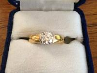 Up for sale is one diamond engagement ring by Jeff