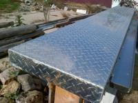 Diamond Plate bar top with a stainless steel drip rail