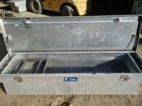 Description Diamond Plated Truck Toolbox In Great