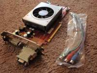 Used video card. Has HD Audio bus on card as well so