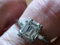 I have for sale a top-quality emerald cut diamond