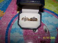 size 7 diamond wedding set for sale $500.00 or best
