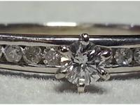 Very Dainty Diamond solitaire 1/3 Carat and additional