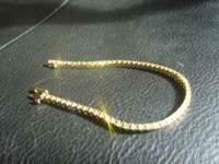 NEW 2 Carat diamond , 14 Kt yellow gold .The length is