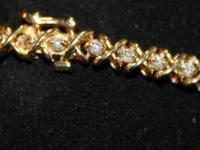 Type: Jewelry Beautiful, heavy diamond tennis ladies