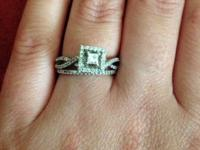 Kay Jewelers Diamond Engagement Ring 1/2ct tw Princess
