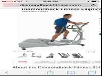 Diamondback 850ER ElipticalTop of the line &