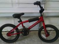 Children's Diamondback mini-viper BMX bike. Dark red