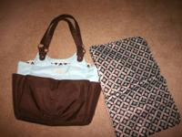 CARTERS DIAPER BAG. LIKE NEW. HARDLY USED. $8  text: