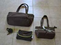 large diaper bag, small diaper bag, changing pad, and