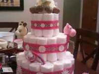 Diaper cakes make a fabulous addition to any baby