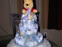 I will customize a beautiful 1, 2, or 3-tiered baby