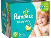 Size 6- 4 packages of 18 diapers each for $15.00 (72 in