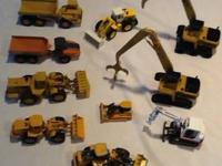 Ten pcs.of die cast construction equipment that I just