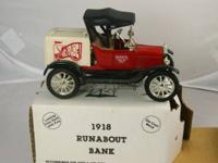 Available immediately is 7 ETRL Die Cast Model Banks.
