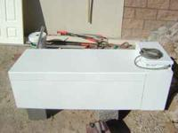 70 gallons great condition. Has electric pump in its