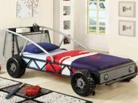 brand new different and unique twin race car bed from