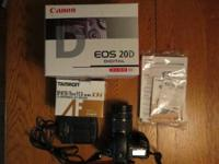 Canon EOS 20D Digital Camera EF-S 18-55 Kit. This is a