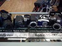 We have several quality digital cameras and camcorders