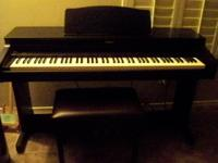 Roland Digital Piano HP 236 and Bench. 88 Keys,