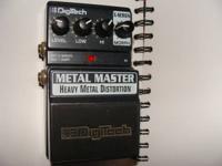 Digitech Metal Master distortion pedal.  Works fine.