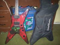 The guitar is a Dimebag Derrell Washburn. Model: Dime36