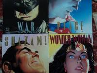 The four books in the Paul Dini & Alex Ross series of
