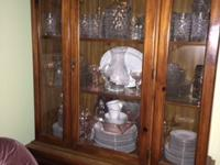 Lovely solid wooden hutch with 2 pieces. Top can be