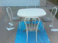 Dining/Kitchen Table And The 4 Chairs White