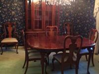 American Drew Cherry Dining Room Furniture.  China