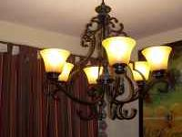 Changed lights in dining room. Good shape, heavy, 6