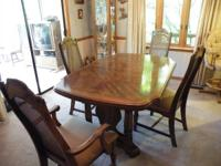 Imperial Dining Room set. Table, 2 Arm Chairs, 4 Side