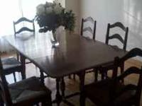 This is a beautiful antique dining room table and
