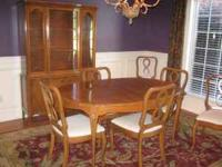 dining room table 6 chairs china cabinet serving