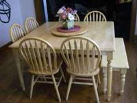 Dining Room Set - Pine - Butterfly for expansion, 54