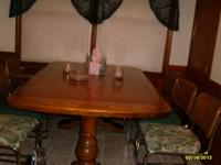 Beautiful (solid) cherry hardwood table, very sturdy!!