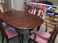 I am selling a nice Ethan Allen 6 piece Mahogany dining