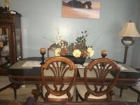 selling Universal wood/veneer dining table with light