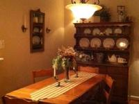 Solid Maple (circa 1950s) dining room table with