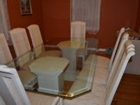 DINING ROOM SET GLASS TABLE 8 Chairs   $500 (clifton Nj)