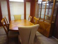 Complete dining room setTable with two extensions or