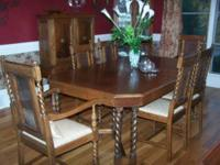 Beautiful Barley Twist Dining Room Suit - Get Ready for