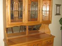 "Beautiful fruitwood dining room table is 72""x48"" and"
