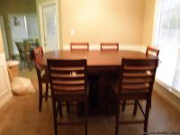 Beautiful High Top Dining Room Table with 6