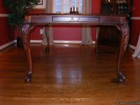 Beautiful Mahogany ball and claw dining room