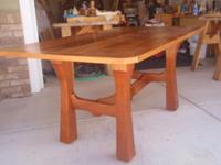 "This is a custom made, solid cherry table. It is 36"" X"