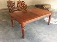 "Two year old 6' 4"" x 3' 10"" Dinning Room Table that"