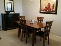 Dinette Table with 4 Chairs - solid wood w/butterfly