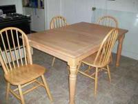 I have a beautiful solid wood kitchen table and 4